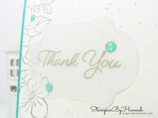 Heat Embossing on Vellum with Blended Seasons from Stampin' Up!