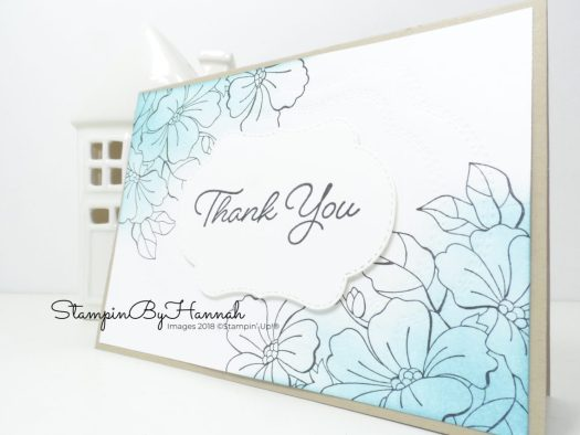 Colour Your Season Ink Blended Thank you Card using Stampin' Up! products