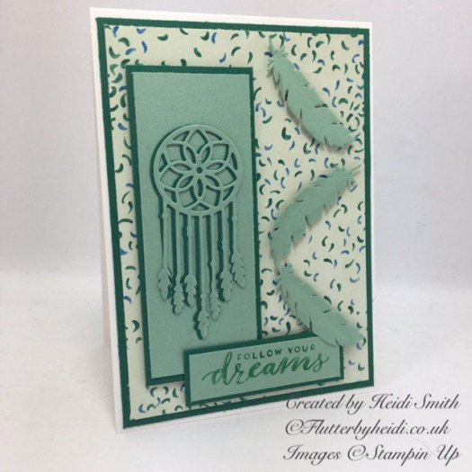 Follow your dreams card by Heidi Smith using Stampin' Up! products