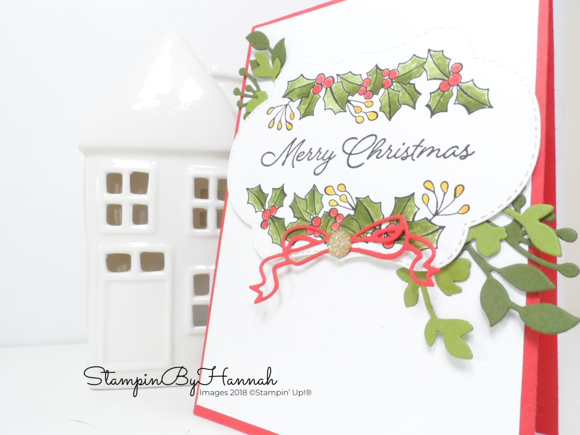 How to make a fun Coloured Christmas Card using Blended Seasons from Stampin' Up!