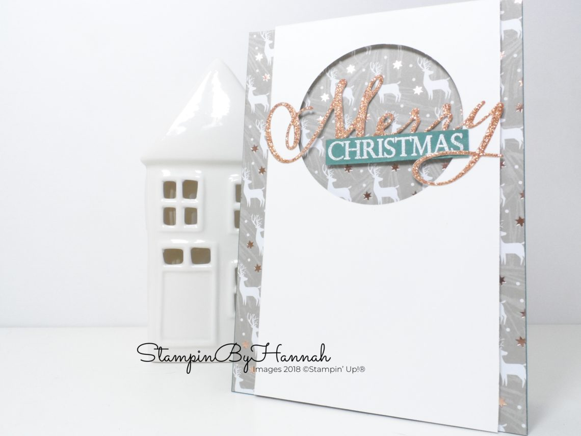 Inspire.Create.Challenge Merry Christmas To All Card using Stampin' Up! products