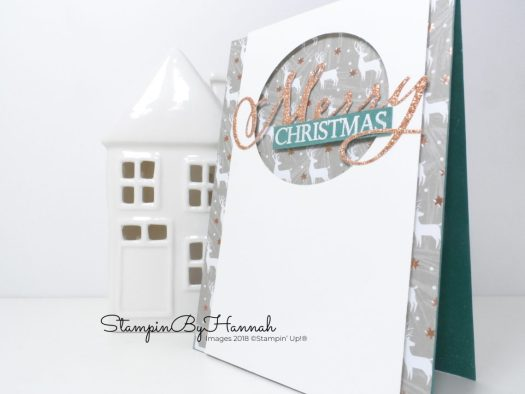 How to make a fun Christmas Card using Merry Christmas to All from Stampin' Up! with StampinByHannah