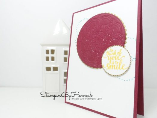 Embossing with the Stampin' Up! Embossing Mats for the InspireInk Blog Hop with StampinByHannah