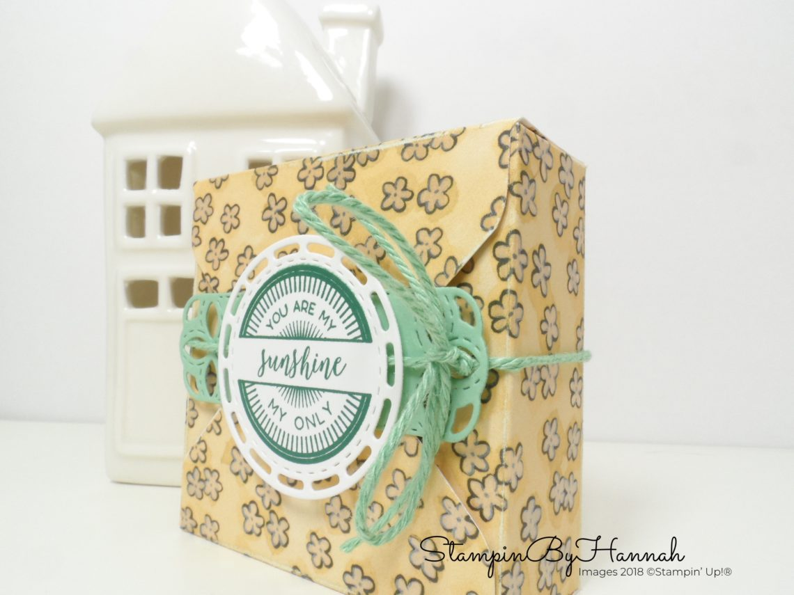 International Blog Highlights Teacher Gifts Teabag Gift Box using Share What You Love Designer Series Paper from Stampin' Up!