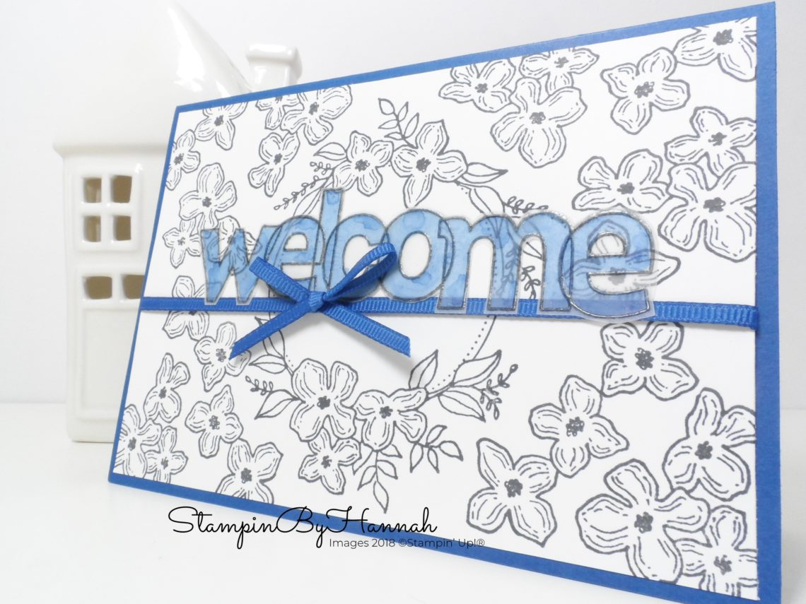 Floral Welcome card using Floral Frames from Stampin' Up!