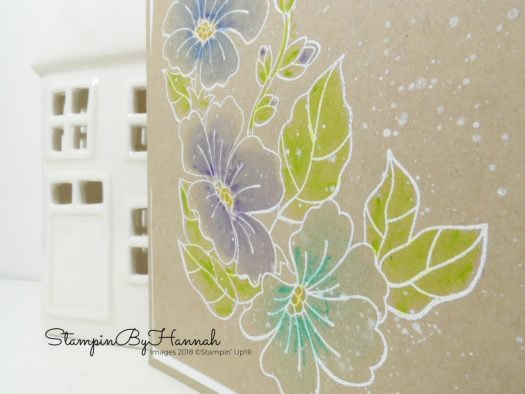 How to create a sparkly look with watercolour pencils from Stampin' Up!