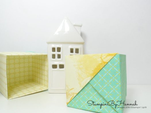 How to make an origami pen pot using Stampin' Up! Designer Series Paper