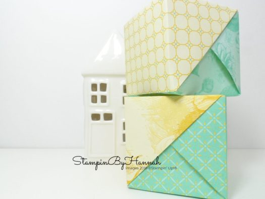 no glue Designer Series Paper box using Stampin' Up! products