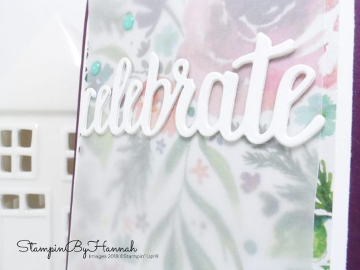 Fun Floral Celebrate card using Frosted Florals from Stampin' Up!
