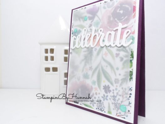 Inspire.Create.Challenge Stampin' Up! Challenge Blog Theme Challenge Celebrate Theme Floral Celebrate Card using Stampin' Up! products