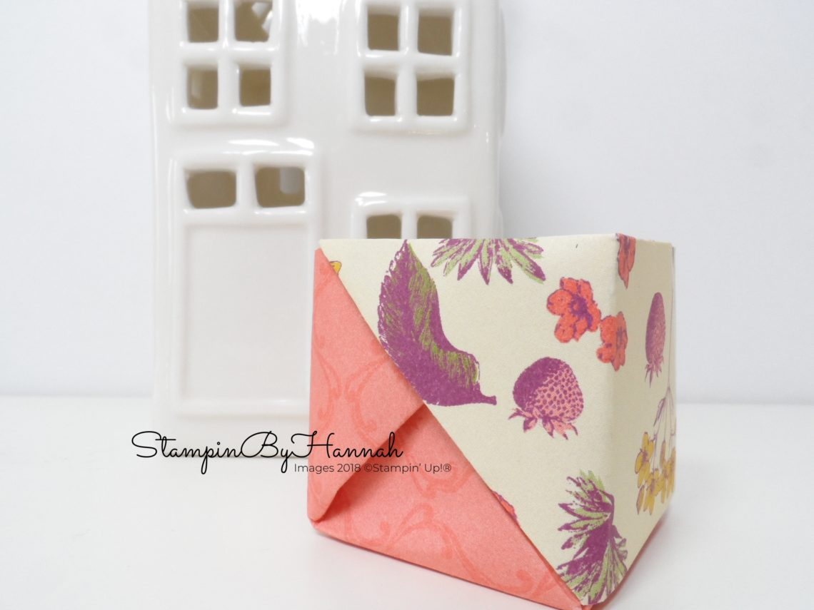 Fun no glue mini box using Stampin' Up! Designer Series Paper