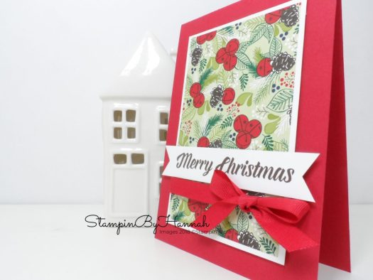 Fun Christmas Card using Under the Mistletoe Designer Series Paper from Stampin' Up!