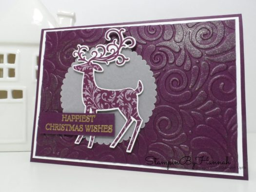 Fun and Shimmery Christmas Card using Dashing Deer from Stampin' Up!