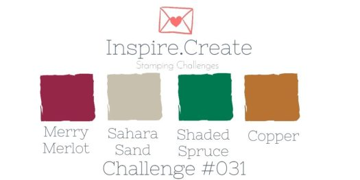 Inspire.Create.Challenge Stampin' Up! Cardmaking Challenge