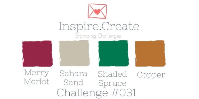 Inspire.Create.Challenge Stampin' Up! Cardmaking Challenge