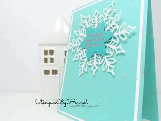 Clean and simple snowflake Christmas Card using Stampin' Up! products