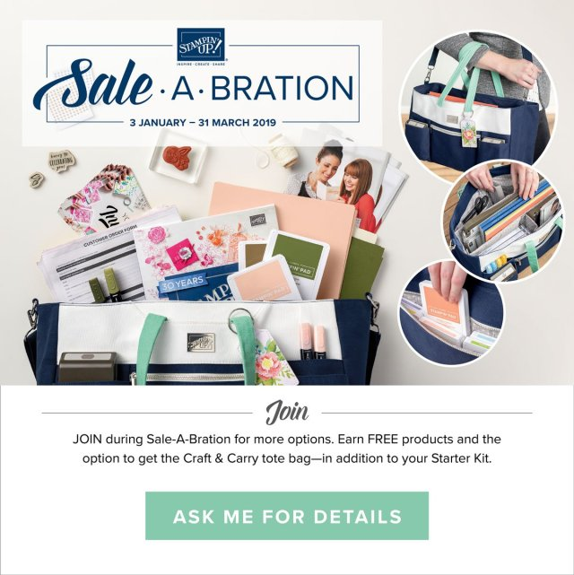 Stampin' Up! Sale-a-bration joining offer 2019