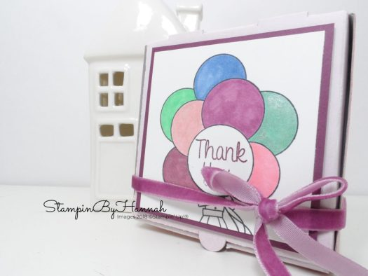 Inspire.Create.Challenge Party Time Theme Challenge Hand Delivered Party Favour with Stampin' Up! Mini Pizza Boxes