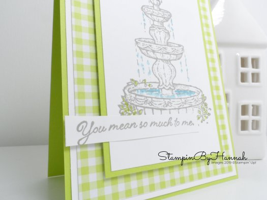 Pretty hand made Just Because Card using Flowing Fountain from Stampin' Up! with StampinByHannah