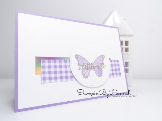 Handmade Just a Note card using Butterfly Gala from Stampin' Up! with StampinByHannah