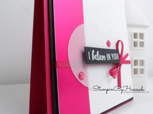 I Believe in You card using Amazing life from Stampin' Up! with StampinByHannah