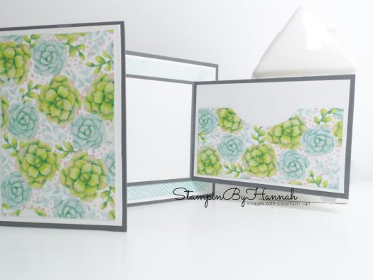 Joy fold card using Painted Seasons from Stampin' Up! for Sale-a-bration 2019 with StampinByHannah