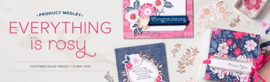 Stampin' Up! Everything is Rosy Exclusive Card Kit