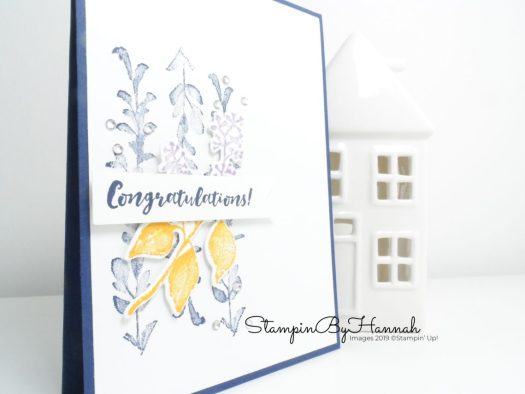 Pretty Congratulations card using First Frost from Stampin' Up! with StampinByHannah