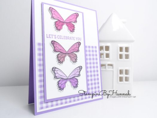 Lets Celebrate You Handmade Card using Butterfly Gala from Stampin' Up!