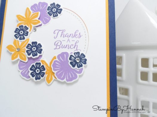 Thanks a Bunch Floral thank you card using Beautiful Bouquet from Stampin' Up! with StampinByHannah