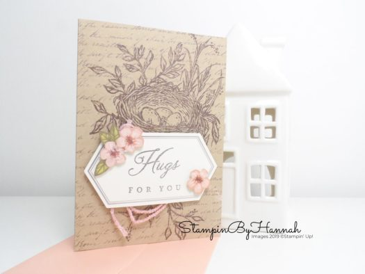 Hugs from Shelli Paper Pumpkin card for May 2019 with StampinByHannah