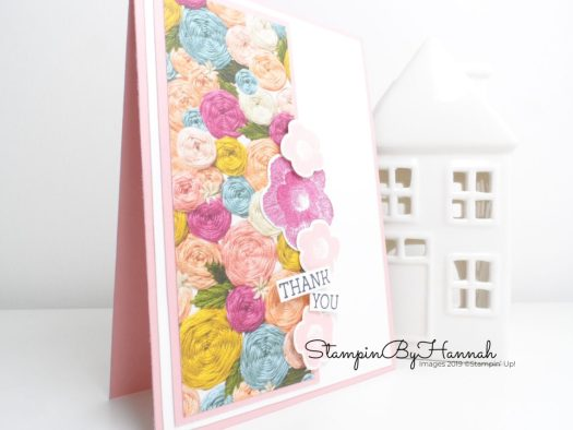 Handmade Thank You Card using Needlepoint Nook from Stampin' Up! with StampinByHannah