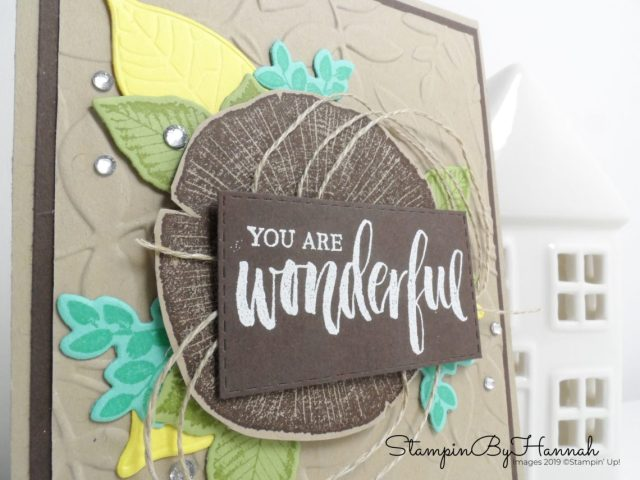 Fun layered card using Rooted in Nature from Stampin' Up! with StampinByHannah