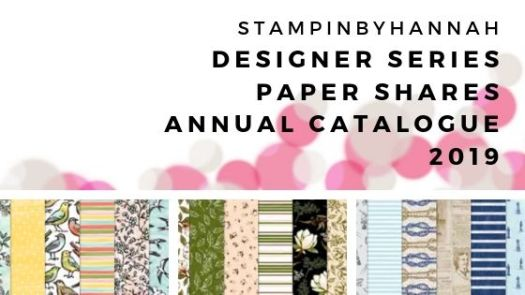 Stampin' Up! Designer Series Paper Shares Annual Catalogue 2019