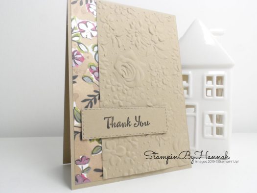 Quick and Easy Thank You card using Designer Series Paper from Stampin' Up! with StampinByHannah