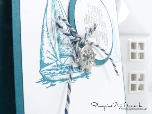 Pretty Peacock Sailing Home card using Stampin' Up! products with StampinByHannah