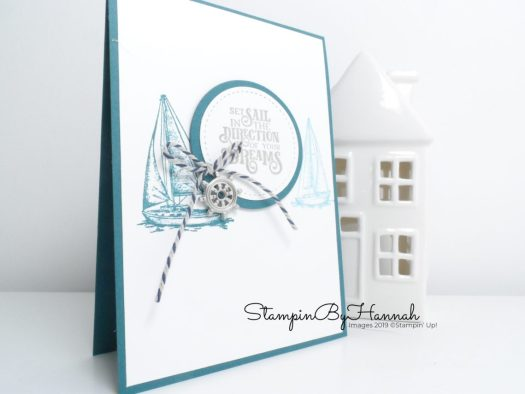 Masculine Sailing Home card using Stampin' Up! products with StampinByHannah