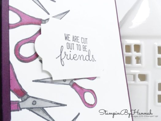 We are cut out to be Friends Crafting themed card using Crafting Forever with Stampin' Blends from Stampin' Up! with StampinByHannah