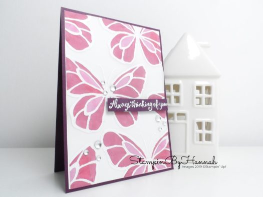 Fun Stained Glass Card Making technique using Beautiful Day from Stampin' Up! with StampinByHannah