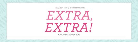 Extra! Extra! Stampin' Up! Joining Offer July-August 2019 with StampinByHannah