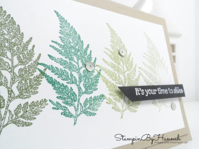 Leaf Ombre encouragement card using Daisy Lane from Stampin' Up! with StampinByHannah
