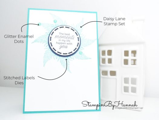 How to create a wreath image with the fern leaf stamp from Daisy Lane from Stampin'  Up! with StampinByHannah