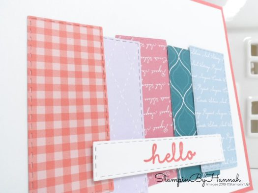 Quick and simple In Colour Designer Series Paper card and video tutorial with Stampin' Up! and StampinByHannah