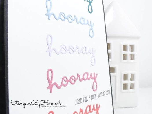 Time for a new adventure card using Well Written dies from Stampin' Up! with StampinByHannah
