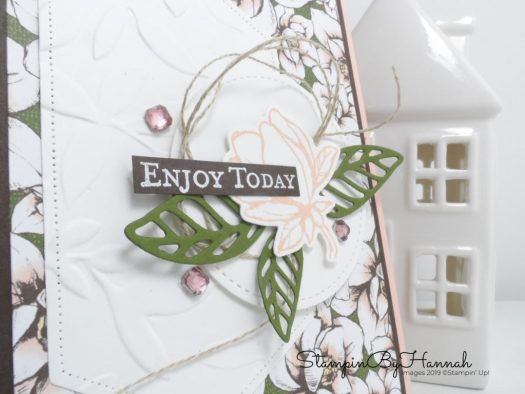 Enjoy Today Layered Card using Good Morning Magnolia from Stampin' Up! with StampinByHannah
