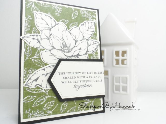 Pretty card using Magnolia Lane from Stampin' Up! with StampinByHannah