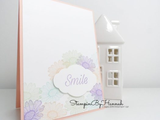 Simple Stamping Smile Card using Daisy Lane from Stampin' Up! with StampinByHannah