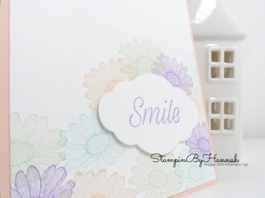 Pretty Smile card using Simple Stamping with Daisy Lane from Stampin' Up! with StampinByHannah