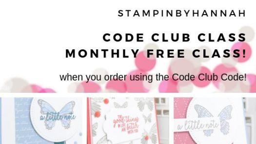 StampinByHannah July Code Club Class featuring Butterfly Gala from Stampin' Up!