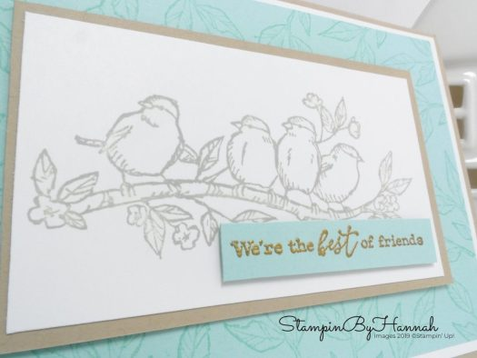 We're the best of friends card using Free as a Bird from Stampin' Up! with StampinByHannah